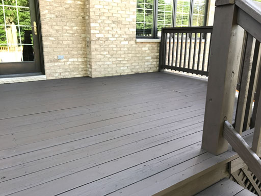 Deck staining long grove