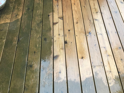 cedar deck power washing