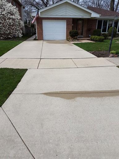 concrete driveway power washing mount prospect il