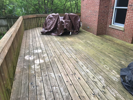 deck before power washing