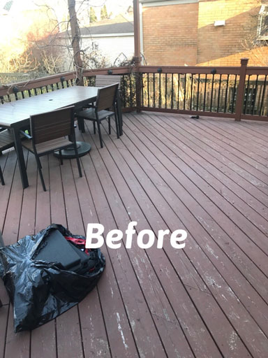 deck before power washing oak park il