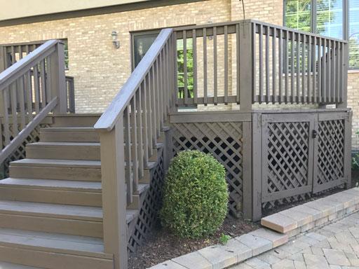 deck staining bur ridge