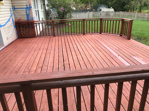deck staining highland park, il