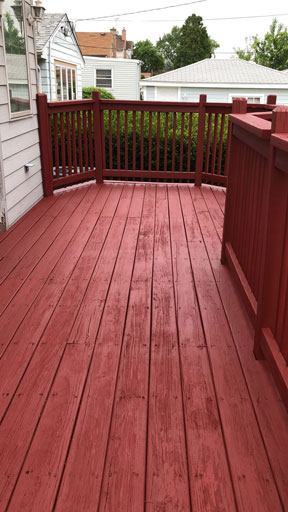 deck staining naperville
