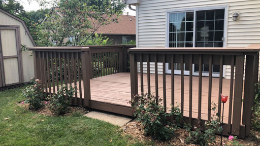 deck staining portage park
