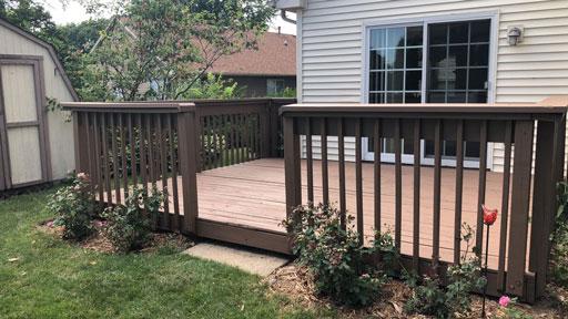 deck staining portage park