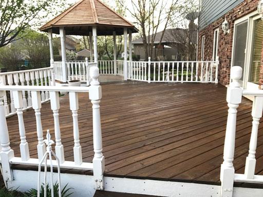 deck staining transparent color