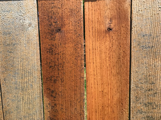 fence power washing and staining