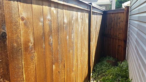 fence power washing