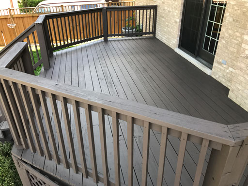 glenview deck staining