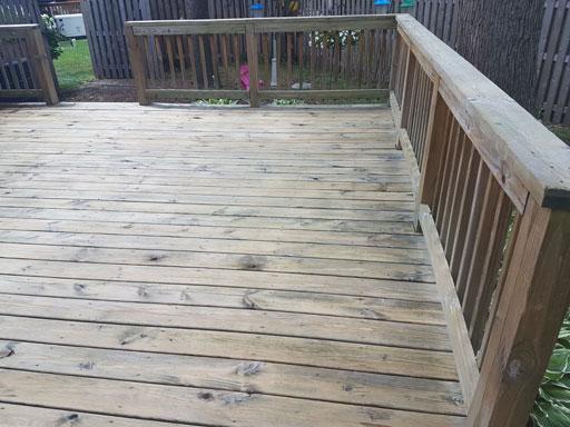cedar deck power washing