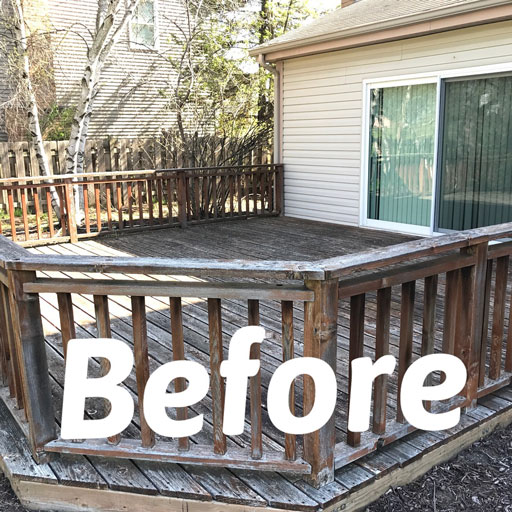 old deck before staining