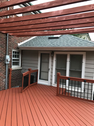deck and pergola staining
