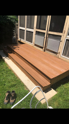 porch staining