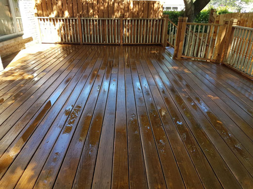 prepare deck for staining