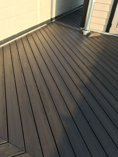 rooftop deck staining
