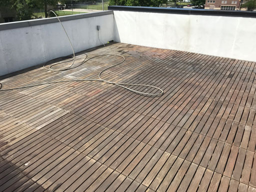 rooftop ipe deck powerwashing