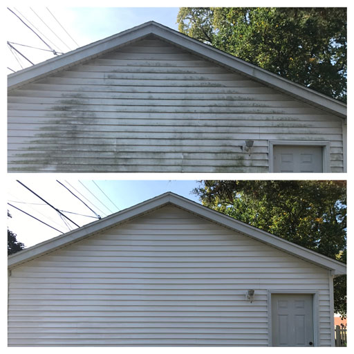 siding soft washing before after