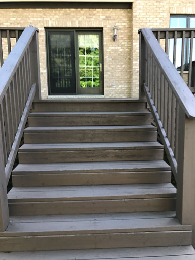 wood staircase staining