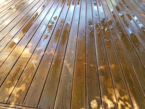 wood deck power washing Chicago